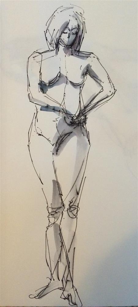 """""""Nude 5"""" original fine art by Naomi Bautista"""