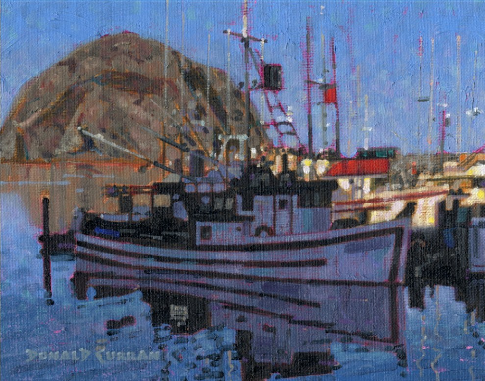 """Morro Bay, California"" original fine art by Donald Curran"
