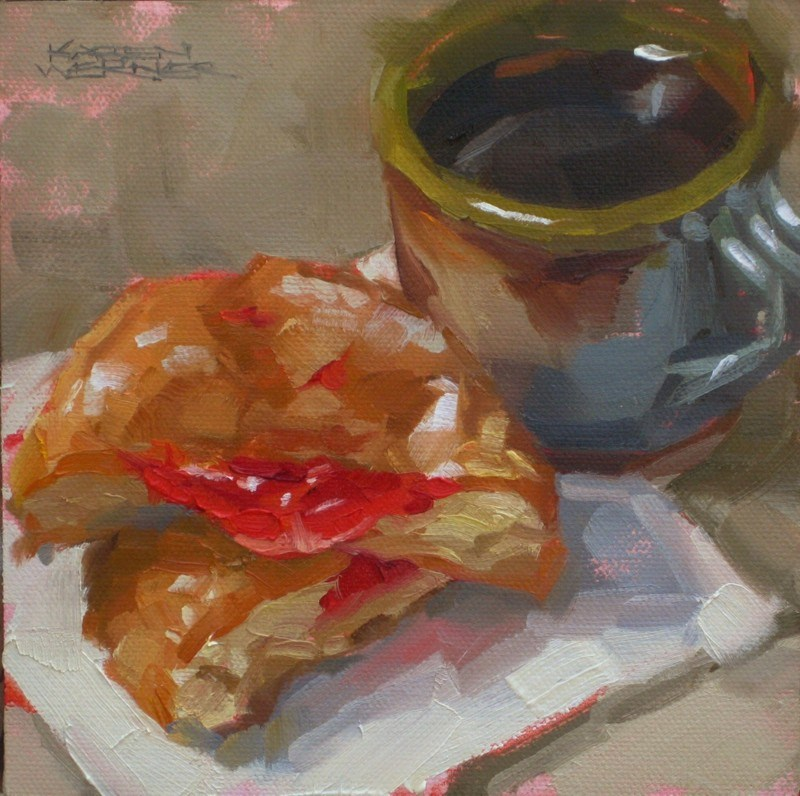 """Jelly & Coffee"" original fine art by Karen Werner"