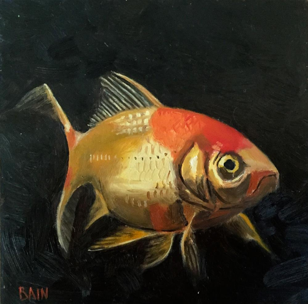 """Goldfish No. 1"" original fine art by Peter Bain"