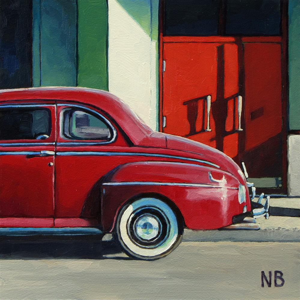 """""""Red Doors"""" original fine art by Nora Bergman"""