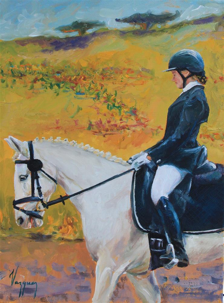 """""""Enjoying the ride"""" original fine art by Marco Vazquez"""