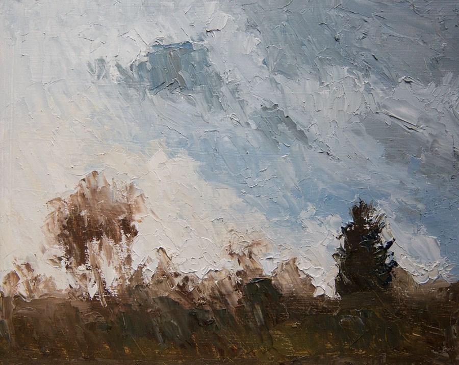 """Cloud Study #2"" original fine art by Jethro Knight"