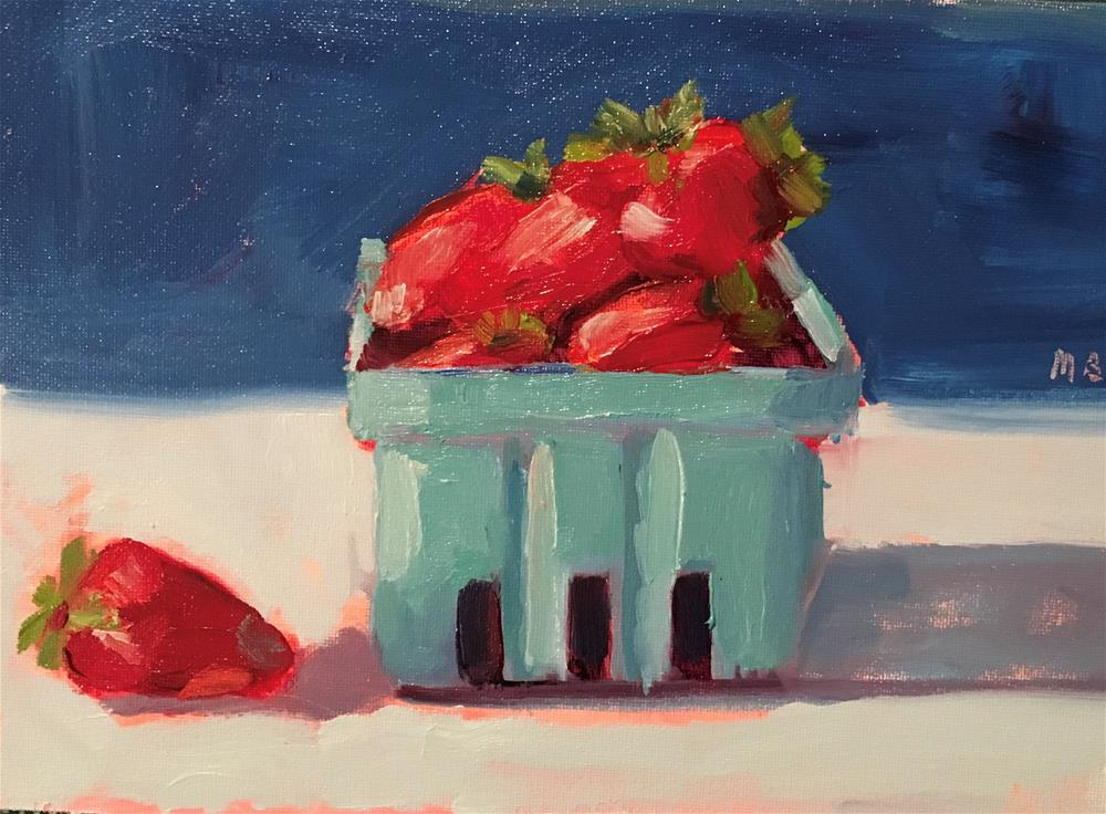 """Berry Left Behind"" original fine art by Marcia Bergtholdt"
