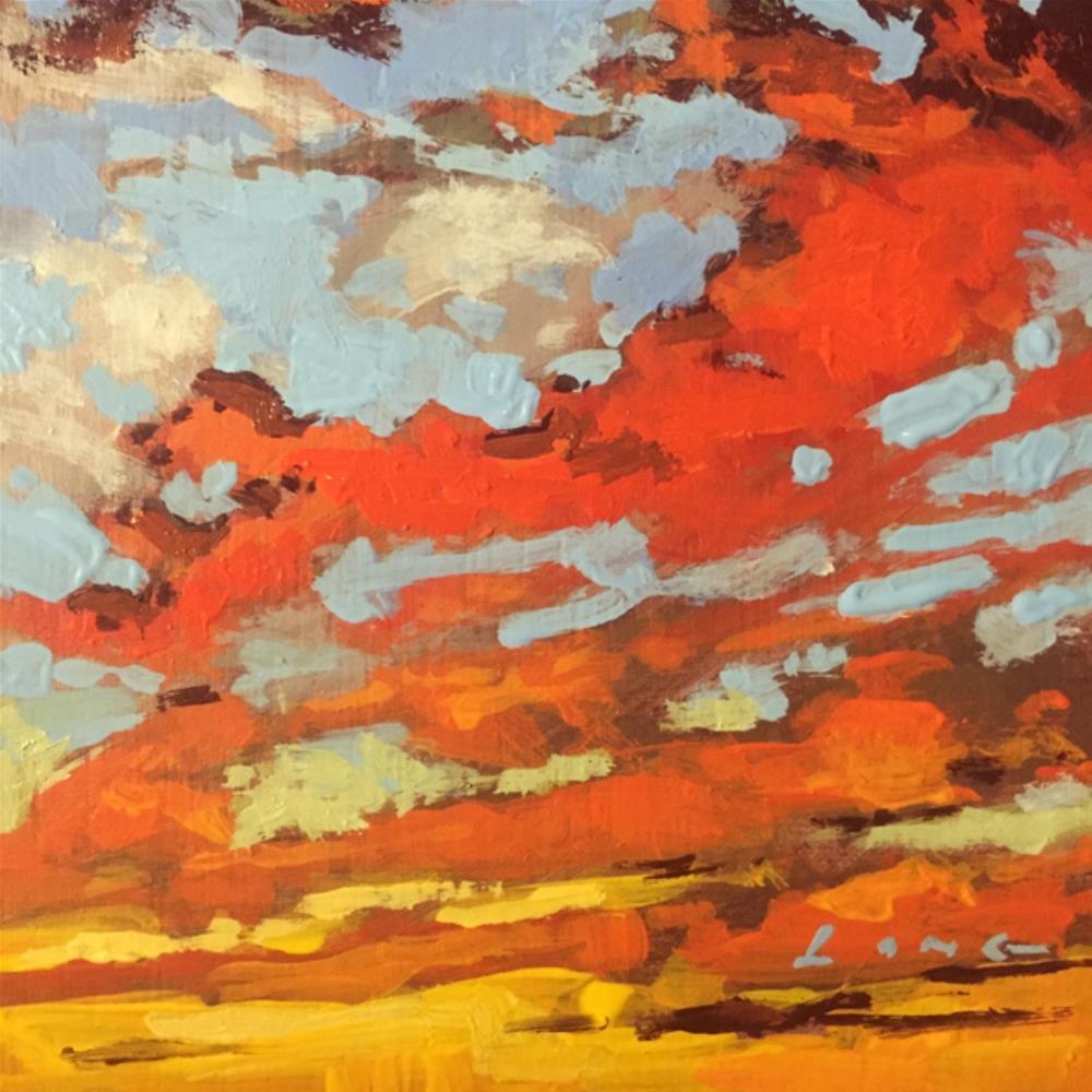 """Brazen Sky"" original fine art by Chris Long"