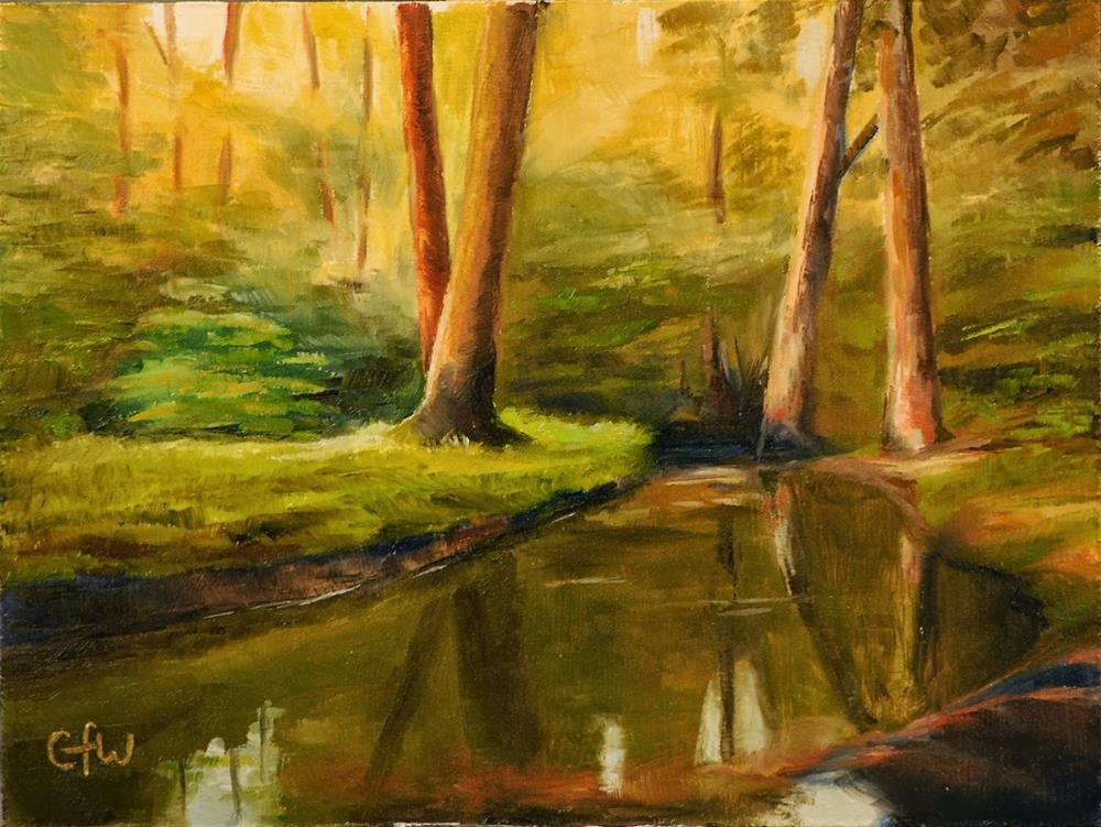 """Stream In The Woods"" original fine art by Gary Westlake"