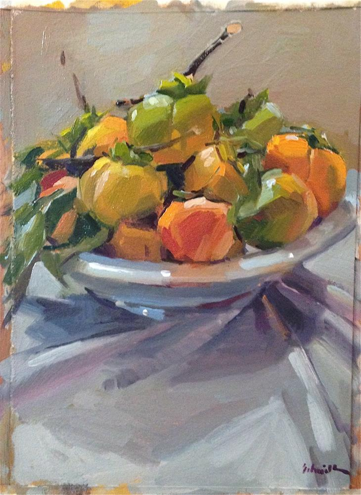 """Persimmon Plenty"" original fine art by Sarah Sedwick"