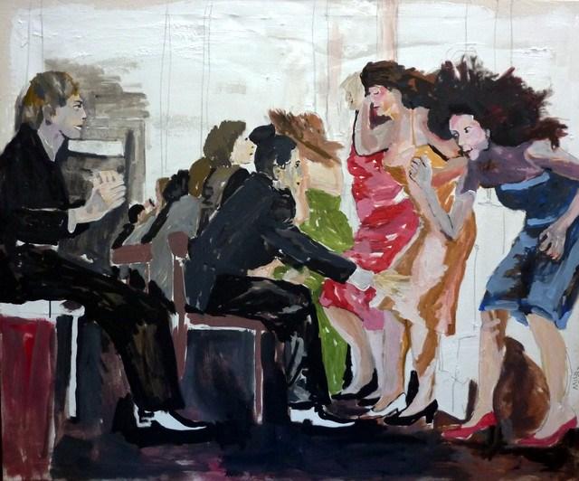 """Damenwahl / ladies choice"" original fine art by Mila Plaickner"