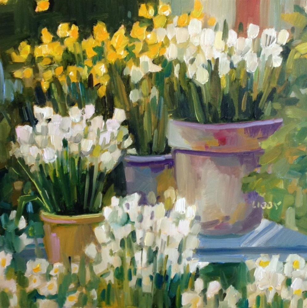 """Garden Chorus"" original fine art by Libby Anderson"