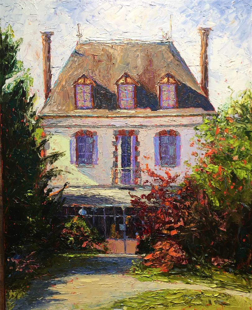 """French Country (The Manor)"" original fine art by Jenny Buckner"