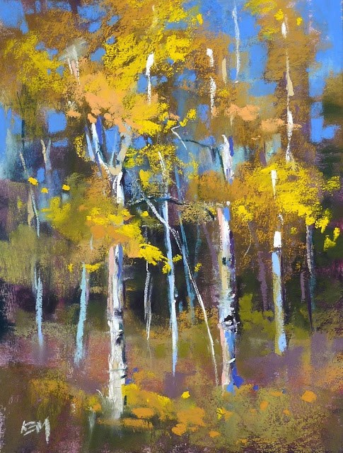 """Tips for Painting a Series: Aspens"" original fine art by Karen Margulis"