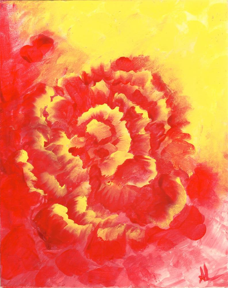"""FIRE FLOWER"" original fine art by Angie Labranche"