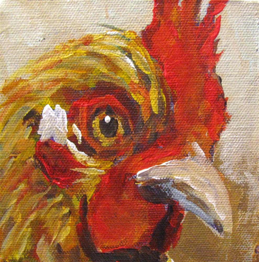 """Honey Rooster"" original fine art by Susan Elizabeth Jones"