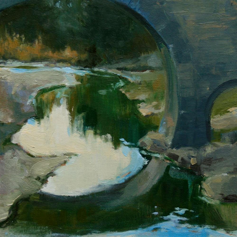 """Bridge at LaGrasse"" original fine art by Jane Robertson"