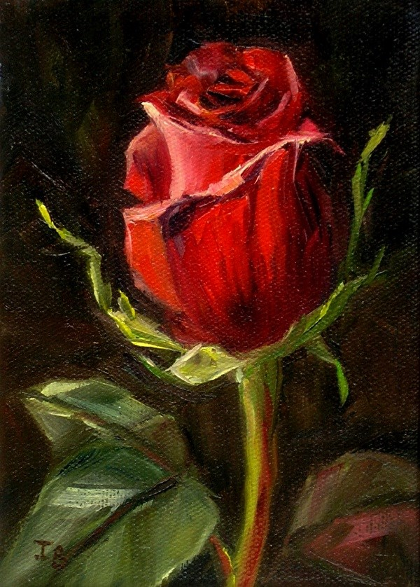 """Rose Study #1"" original fine art by Irina Beskina"
