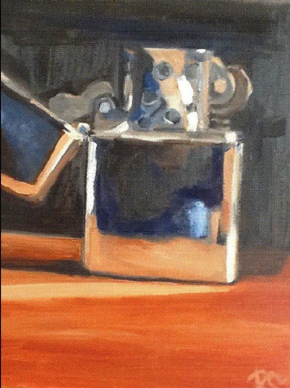 """Remembering Zippo"" original fine art by Peggy Schumm"