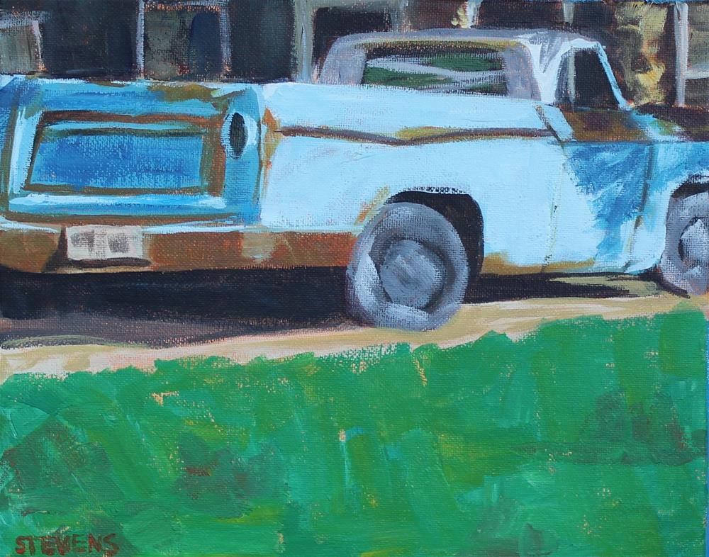 """Old Truck"" original fine art by Jamie Stevens"