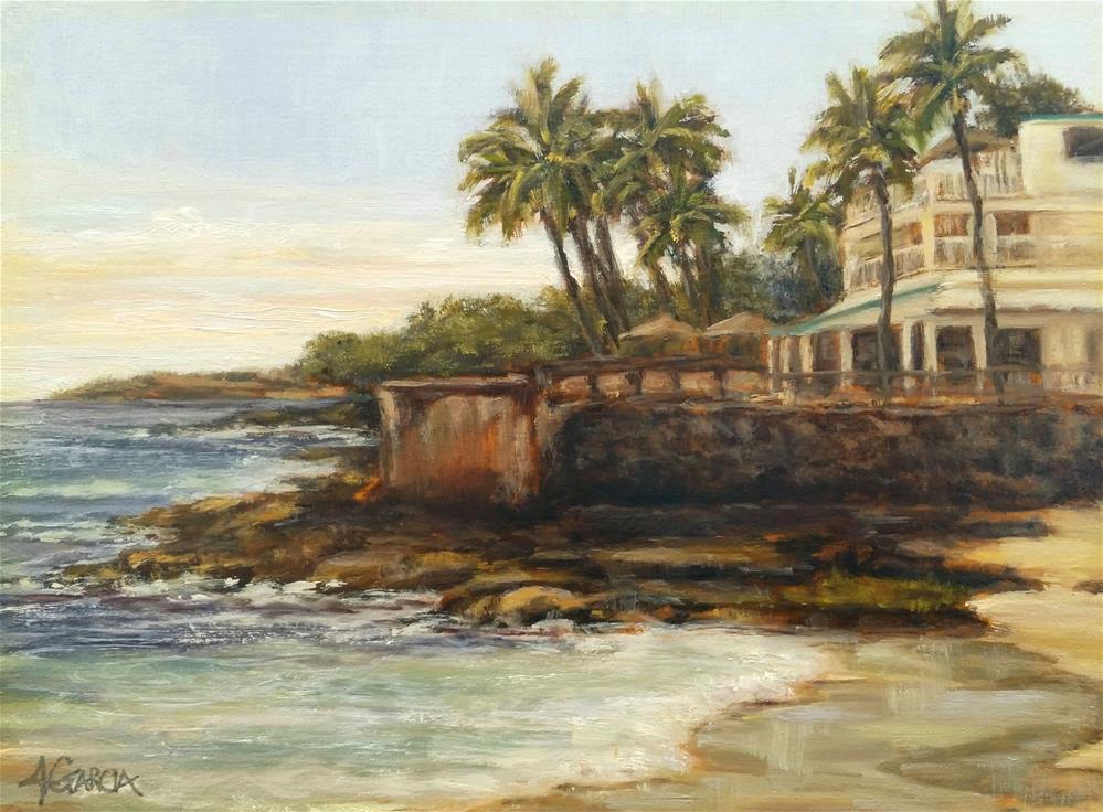 """""""North White Sands Beach"""" original fine art by Jeannie Garcia"""