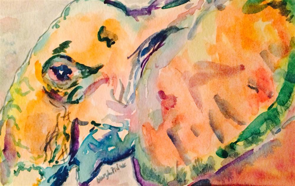 """Elephant Orange II"" original fine art by Gary Price"