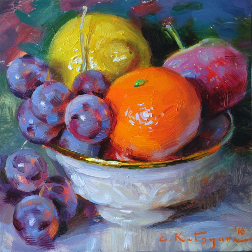 """Bright Fruit"" original fine art by Elena Katsyura"