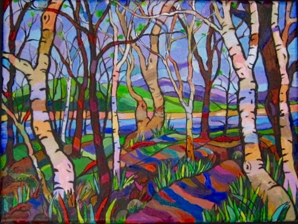 """The Woods Near Loch Dochfour, Scotland"" original fine art by Patricia Musgrave"