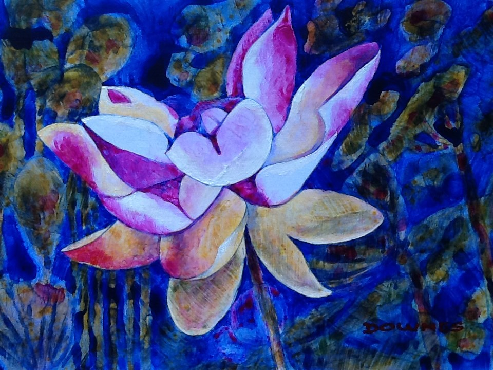 """030 WATERLILLY 3"" original fine art by Trevor Downes"