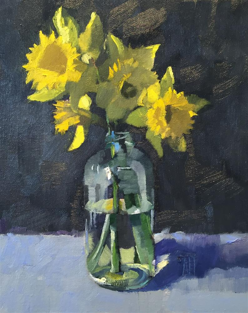 """daffodils 1"" original fine art by Amy Irwin Tank"