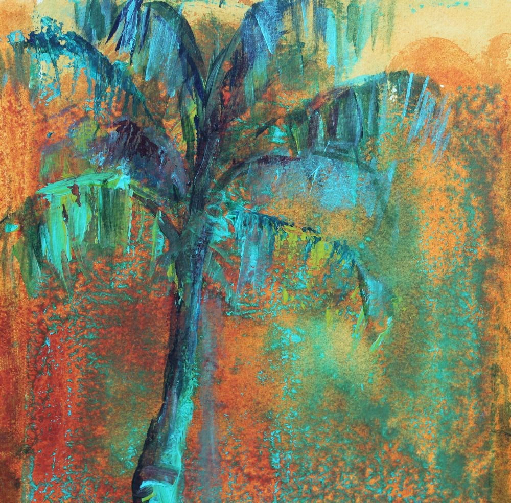 """Palm Tree"" original fine art by Amy Whitehouse"