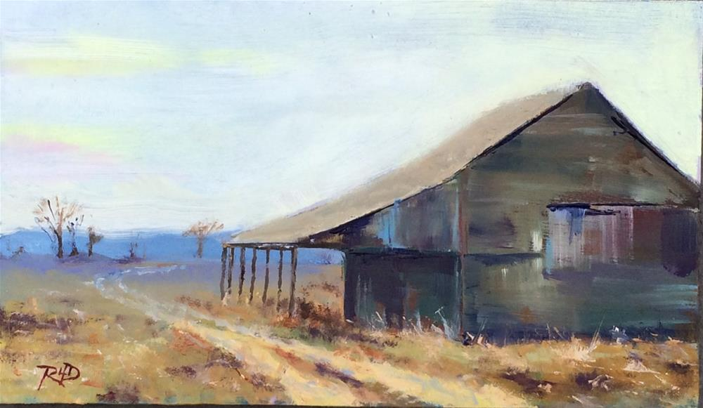 """Southold Barn"" original fine art by Richard Doyle"