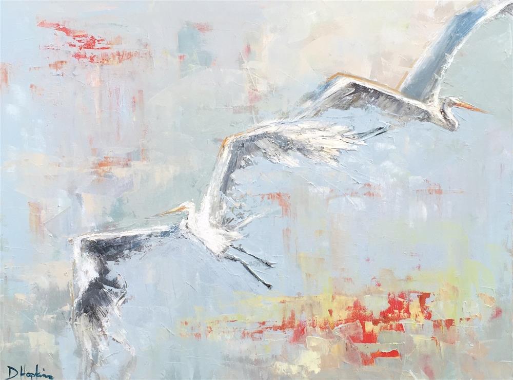 """""""Oragami Sky"""" original fine art by Denise Hopkins"""