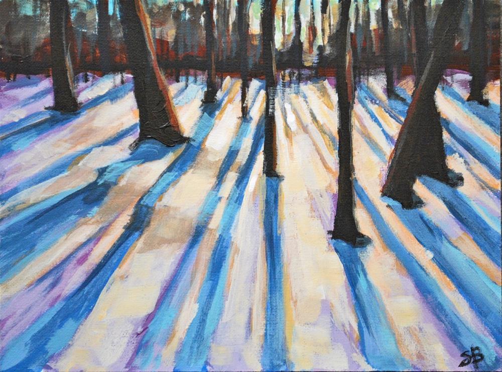 """Light Through the Trees"" original fine art by Shari Buelt"
