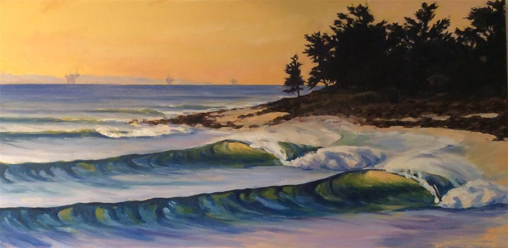 """Rincon Point"" original fine art by Leigh Alexandra Sparks"