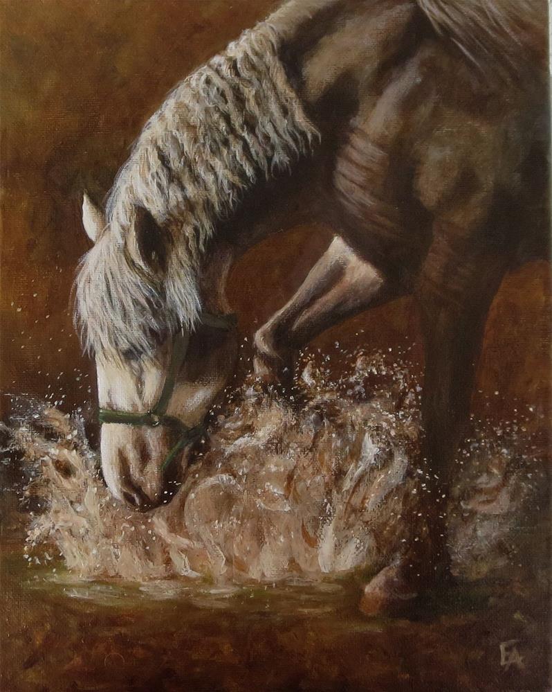 """Splash!"" original fine art by Elizabeth Elgin"
