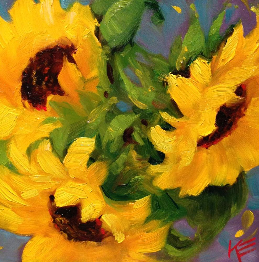 """Sunshine Delight II"" original fine art by Krista Eaton"