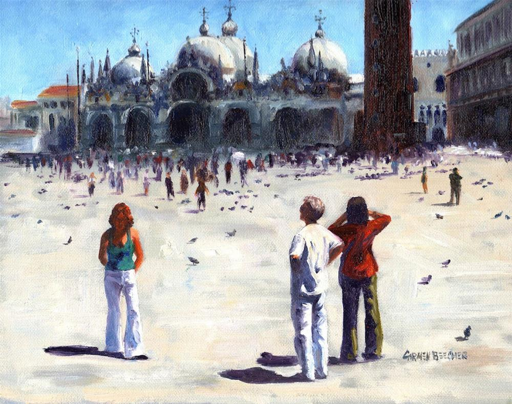 """Piazza San Marcos"" original fine art by Carmen Beecher"