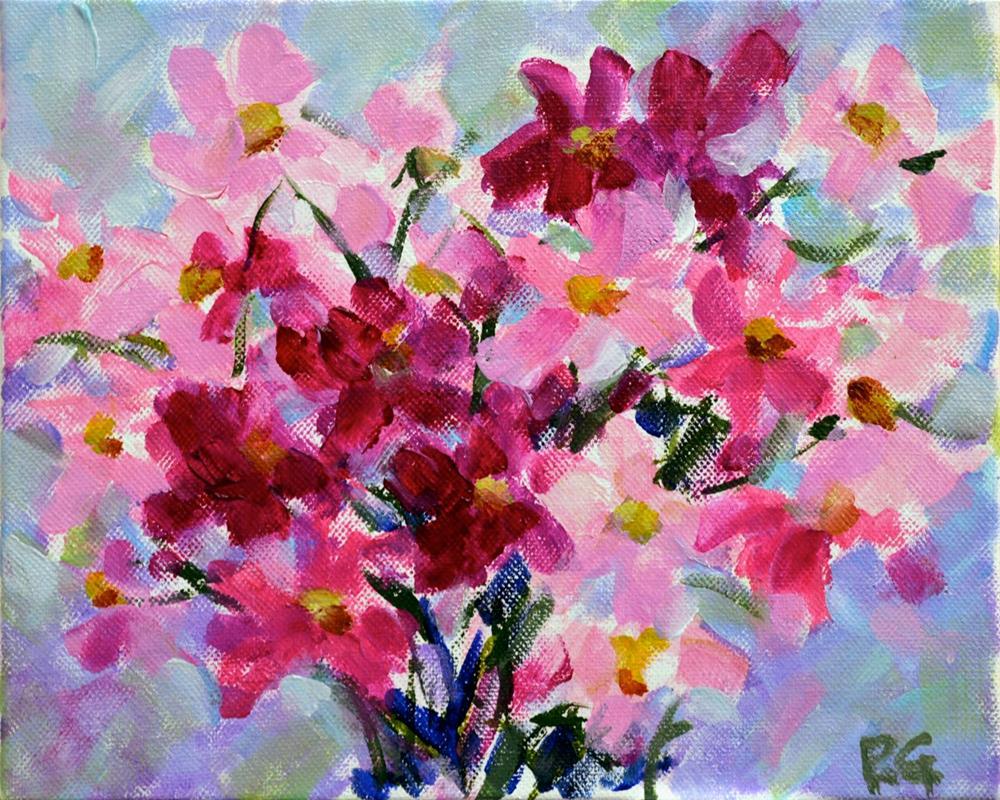 """""""Pink Petals"""" original fine art by Pamela Gatens"""