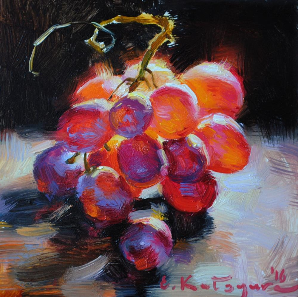 """Flame Seedless"" original fine art by Elena Katsyura"