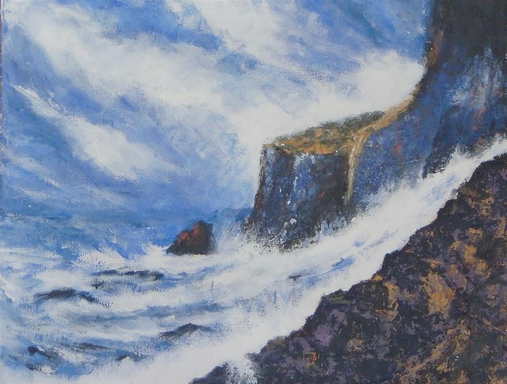 """""""stormy weather"""" original fine art by karen richardson"""