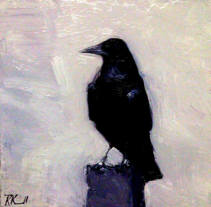"""Resting Raven"" original fine art by Bob Kimball"