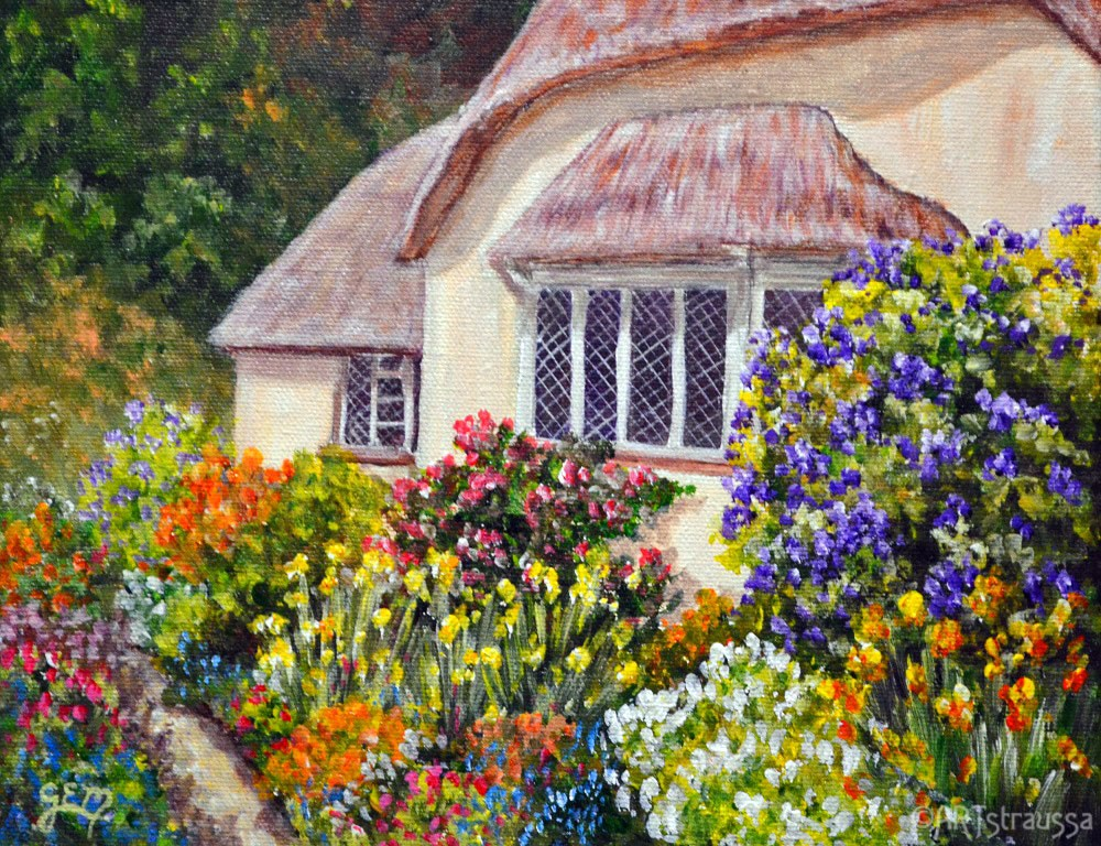 """Weston House"" original fine art by Gloria Ester"