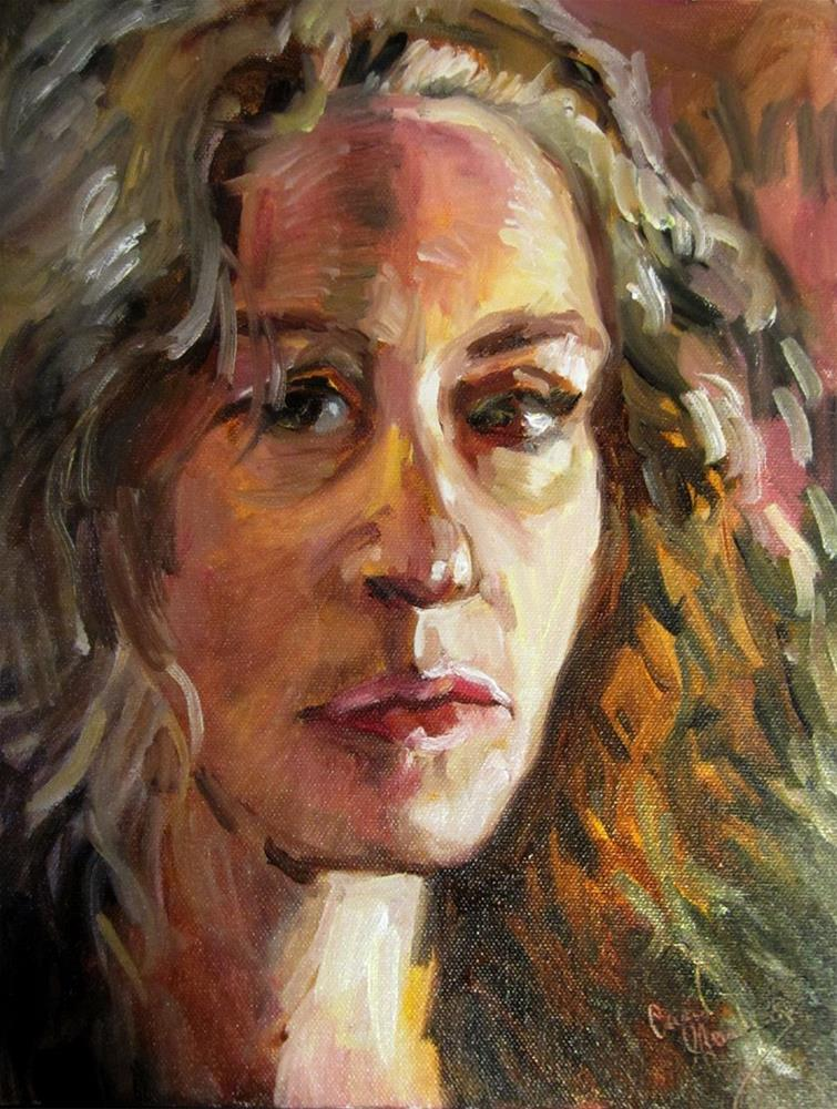 """Self Portrait, January 2016"" original fine art by Carol Steinberg"