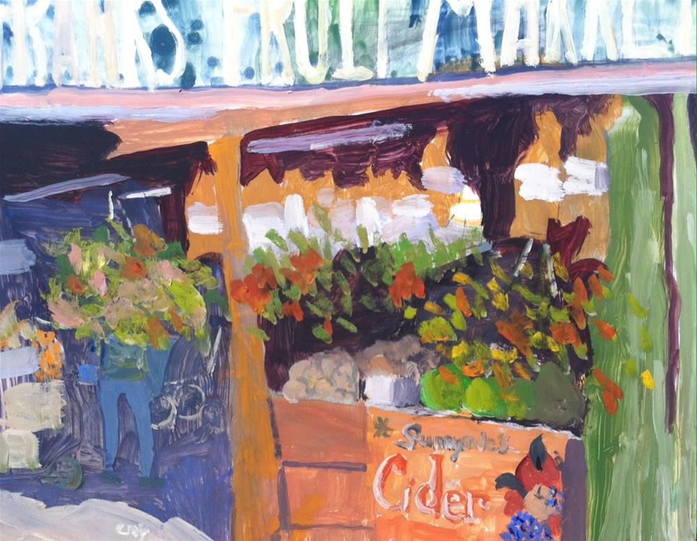 """Farmer's Market"" original fine art by Christine Parker"