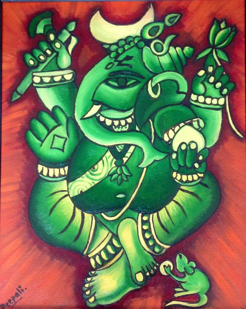 """Lord Ganesha"" original fine art by Dipali Rabadiya"