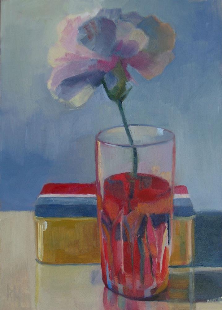 """Memorial Day Carnation"" original fine art by Rebecca Helton"