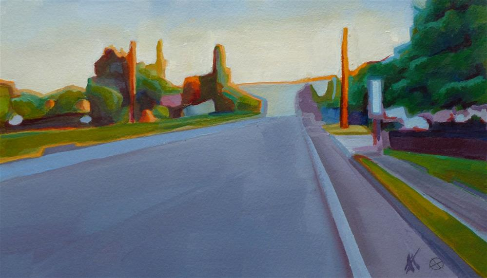 """Sunday a.m., 10th St."" original fine art by Mark Allison"