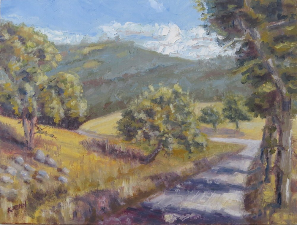 """Around the Bend"" original fine art by Richard Kiehn"