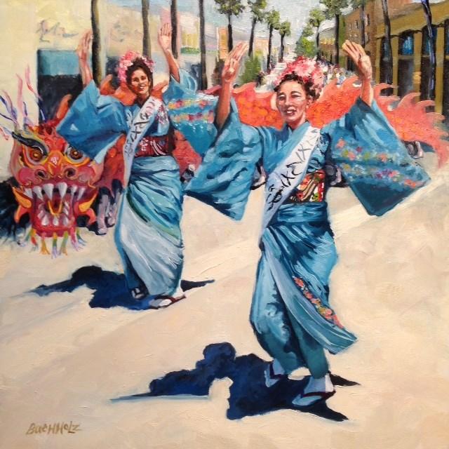 """Santa Monica Street Dance"" original fine art by Terri Buchholz"