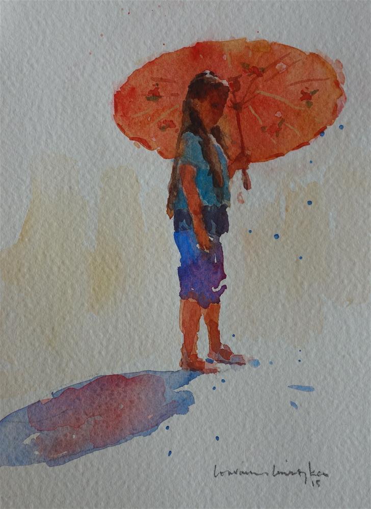 """Red Glow"" original fine art by Lorraine Lewitzka"