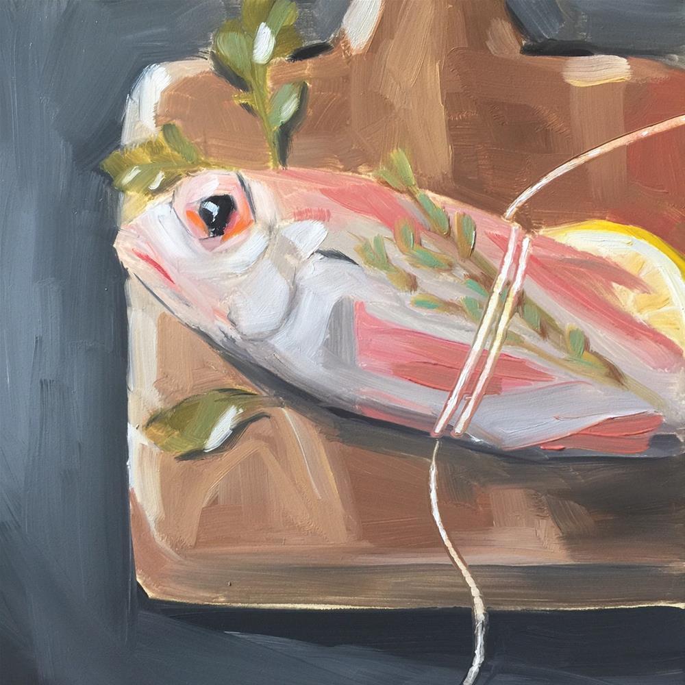 """358 Serious Fish"" original fine art by Jenny Doh"