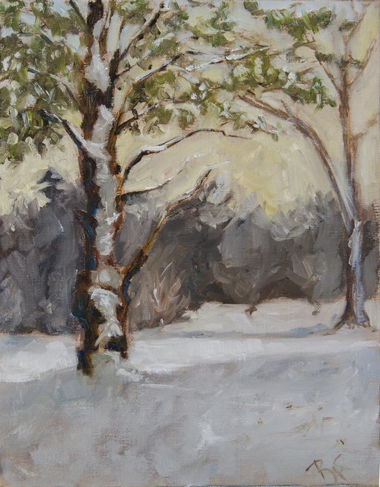 """Tree and Snow"" original fine art by Rachel Steely"